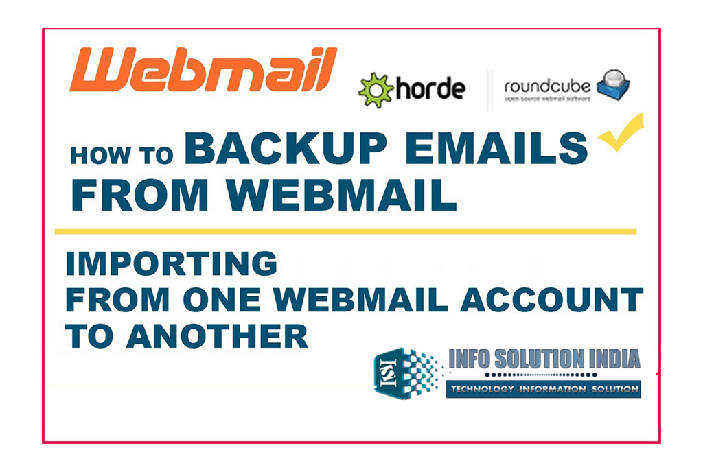 how to importemail data from webmail account
